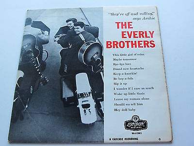 The Everly Brothers Orig 1958 1St Uk  London Lp  They Re Off Rockin And Rolling