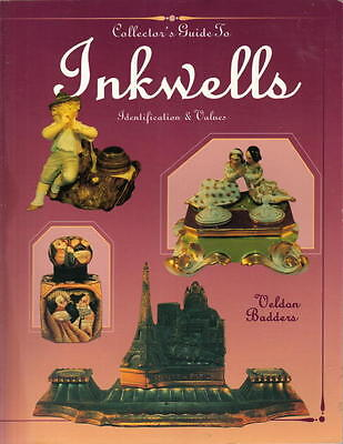 INKWELLS COLLECTOR'S GUIDE Full Color - Crystal, Glass, Metal, Porcelain +More