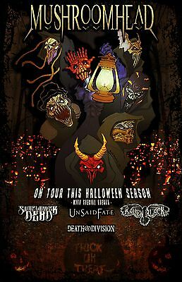 "Mushroomhead /sunflower Dead ""on Tour This Halloween Season"" 2016 Concert Poster"
