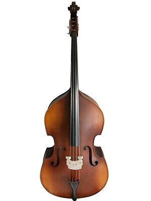Double Bass, 4/4 size, half-carved, lefthand brown-matte new