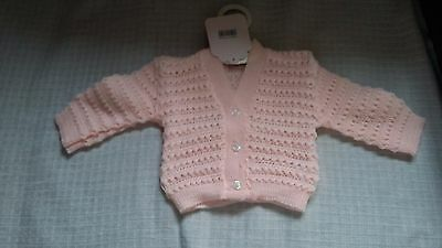 Baby Girls Pink Cardigan 3-6 Months New
