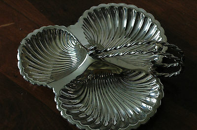 Antique/vintage Mappin & Webb S/plated Dish,shells.
