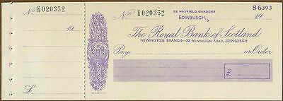 Royal Bank Of Scotland Newington Branch : Unissued Cheque