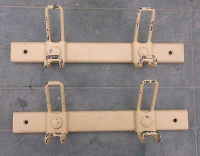 2 French Vintage Retro Steel Industrial Double Coat Hooks !  #3