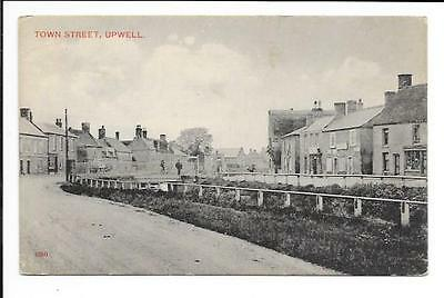 Old postcard, Norfolk: 'Town Street, Upwell'.