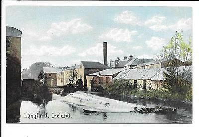 Old Postcard, Ireland: 'Longford'. Unmailed.