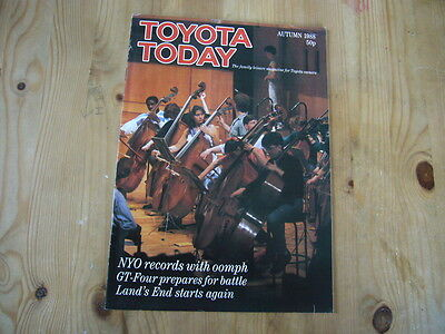 Toyota Today factory customer magazine, Autumn 1988, excellent condition