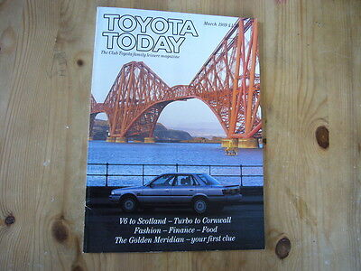 Toyota Today factory customer magazine, March 1989, excellent condition