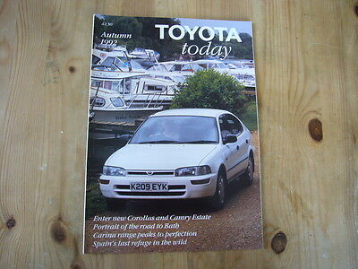 Toyota Today factory customer magazine, Autumn 1992, excellent condition