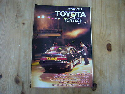 Toyota Today factory customer magazine, Spring 1993, excellent condition