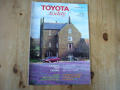 Toyota Today factory customer magazine, Summer 1993, excellent condition