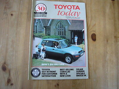 Toyota Today factory customer magazine, Summer 1995, excellent condition