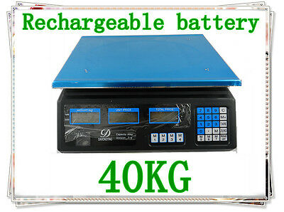 40K Electronic Price Computing Digital Platform Scale Weight Rechargable Battery