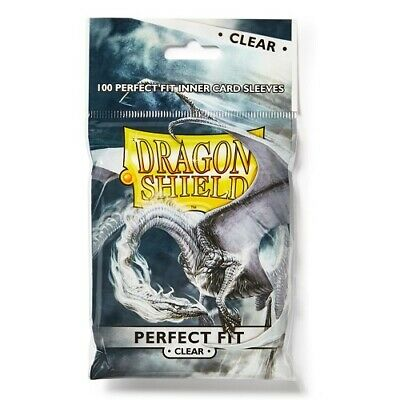 Dragon Shield 100 - Perfect Fit Deck Protector Sleeves - Clear - AT-13001