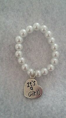 It's a girl braclet ~ doll clothes Reborn doll NB white beads