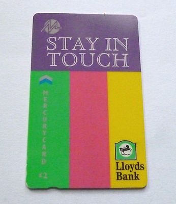 Lloyds Bank - Stay In Touch  / Mercurycard  / Used Phonecard