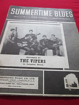 Summertime Blues By Eddie Cochran, Recorded By The Vipers - Music Sheet