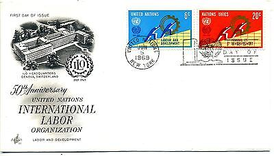 United Nations 1969 International Labour Organisation FDC