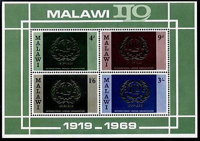 Malawi 1969 International Labour Organisation miniature sheet (MNH)