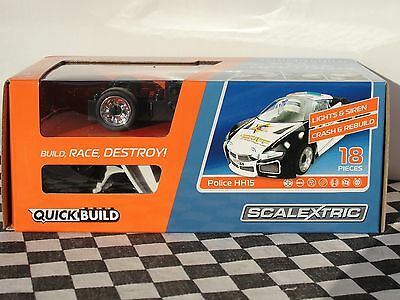 Scalextric Quickbuild 18 Pce Kit Car Police Hh15  C3709  1.32  Boxed New