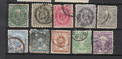 A nice old Japanese 1876 group of issues