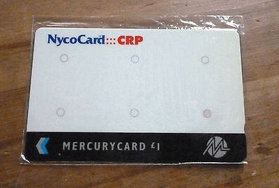 Rare Nycocard -Crp /  Mercurycard  / Mint Sealed Phonecard