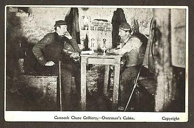 POSTCARD CANNOCK CHASE COLLIERY STAFFORDSHIRE MINING COALMINE c1910