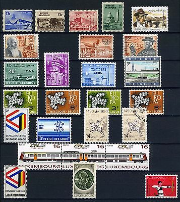 Belgium/Luxembourg small group of mint from 1930's to 90's