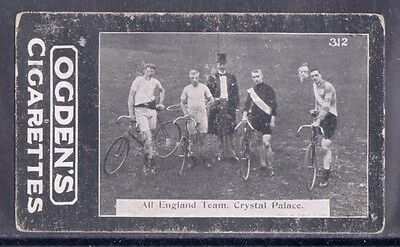 1902 Ogden's  Bicycle Cigarette Card, 1901  All England Bicycle Team