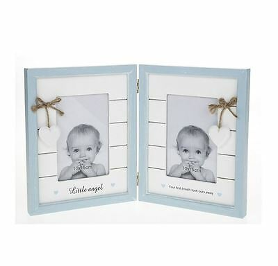 Provence Baby Double Baby Blue Frame Shabby Chic Effect
