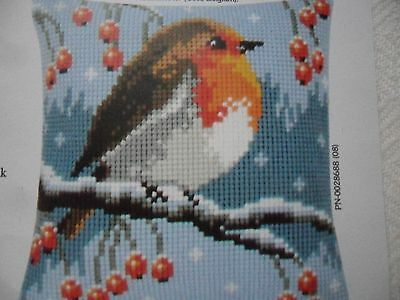 Vervaco Tapestry Kit - ROBIN Cushion Cover