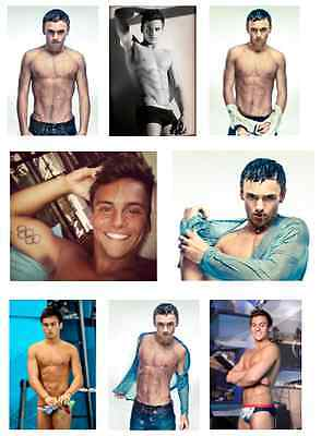 Tom Daley Adult Set Of 8 Flexible Fridge Magnets Gay Interest Free Uk P&p New