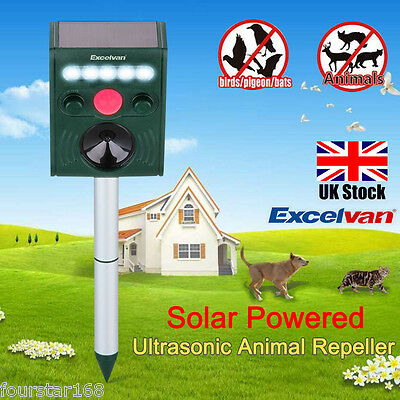 Solar power Ultrasonic Animal Pest  Dog Cat mice Repeller Repellent Garden Farm