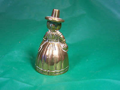 DUTCH  LADY BELL VINTAGE BRASS  MINIATURE  2  inches high  SUPERB