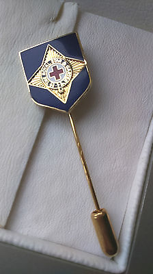 Fine Gold Plated 'THE ROYAL STAR & GARTER' Charity Enamel Stick Pin