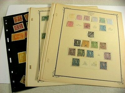 ANGOLA, MACAU, Excellent Stamps hinged on remainder Scott Specialty pages/ sheet