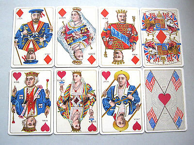 KIMBERLEY BIRMINGHAM ANTIQUE PLAYING CARDS ROYAL PATRIOTIC 2nd EDITION 1893 - 97