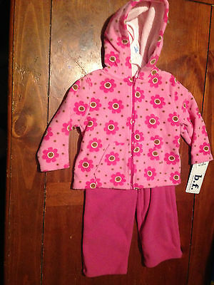 2 Piece Girls Fleece Outfit--Size 12 Months--Jacket w/ Matching Pants Brand new!