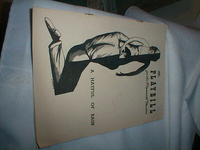 """1956 Playbill The Plymouth Theatre """"A Hatful Of Rain"""""""