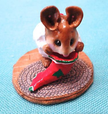 Wee Forest Folk Christmas CHRIS-MOUSE STOCKING