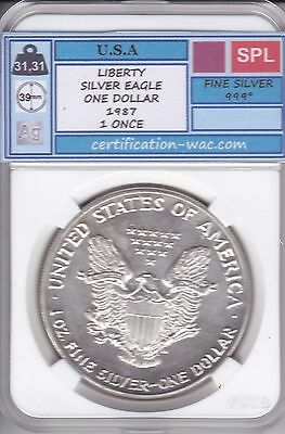 Liberty Silver Eagle One Dollar 1987 1 Once U.s.a