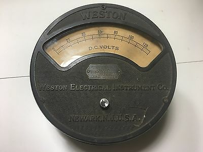 VINTAGE Weston Electrical Instrument Co Voltmeter Model 57 0-130v