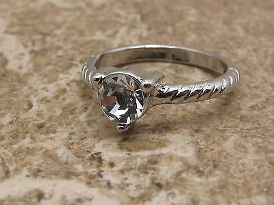Vintage Stone Set Solitaire Ring See Photo For Size