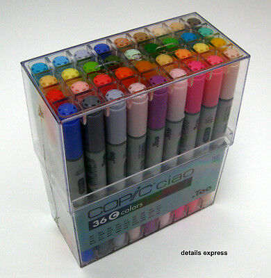 Copic Ciao 36 Brush Pen Marker Set D - Graphics & Manga