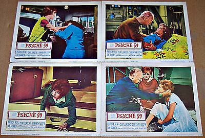 Psyche 59 (1964) Patricia Neal * Curt Jurgens Horror Lot Of 4 Orig Lobby Cards