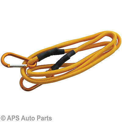 "New Heavy Duty 72"" Long Bungee Cord Strap Spring Loaded Carabiner Clip Camping"