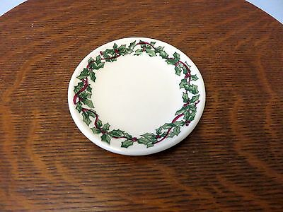Henn Pottery Hollyware Holly Ware Christmas Mini Plate 4 Inches Diameter