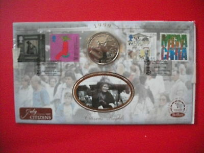 """Benham $1 Liberian """"Votes for Women"""" First Day of Issue Coin Cover 1999"""