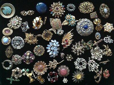Vintage Job Lot Brooches x 50+ for repair
