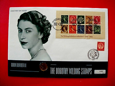 3 pence piece Dorothy Wilding Stamps Numismatic First Day of Issue Coin Cover